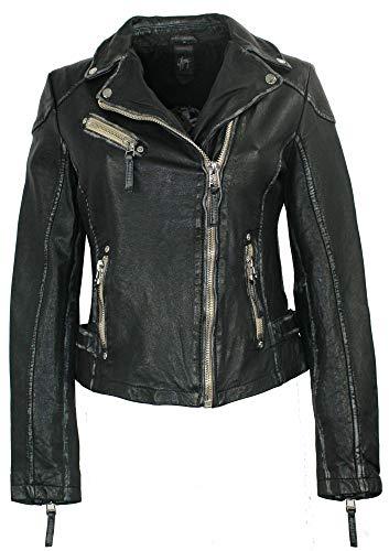 Gipsy - Damen Lederjacke Bikerjacke Lammnappa schwarz Größe M