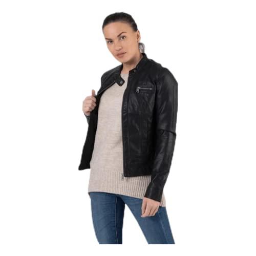 ONLY Damen Bandit PU Biker Jacke, Schwarz (Black C-N10) - 8