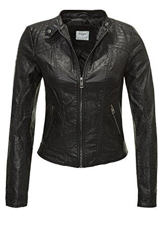 VERO MODA Damen VMMIRA Short PU Jacket DNM NOOS Jacke, Schwarz (Black)