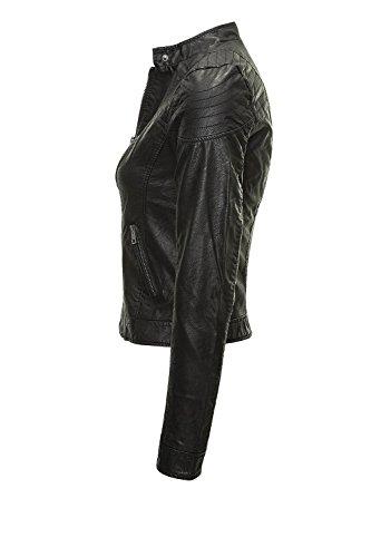 VERO MODA Damen VMMIRA Short PU Jacket DNM NOOS Jacke, Schwarz (Black) - 2