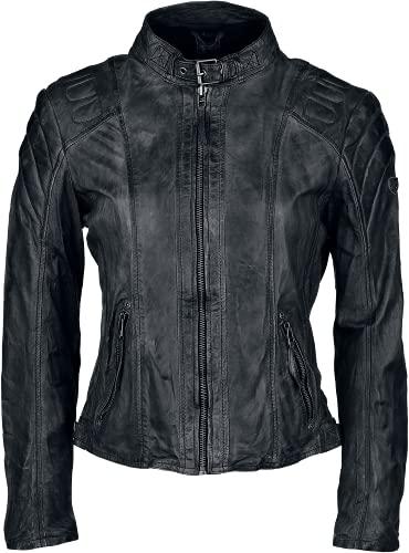 Gipsy Damen Lederjacke Chasey LDDV, Gr. 40 (Herstellergröße: L), Schwarz (black 1) - 5