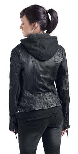 Gipsy Damen Lederjacke Chasey LDDV, Gr. 40 (Herstellergröße: L), Schwarz (black 1) - 8