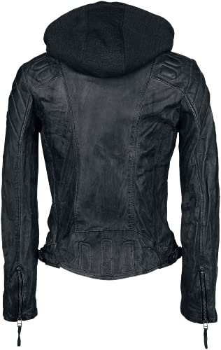 Gipsy Damen Lederjacke Chasey LDDV, Gr. 40 (Herstellergröße: L), Schwarz (black 1) - 6