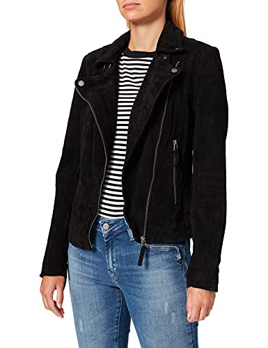 Freaky Nation Damen Taxi Driver Jacke, Schwarz (Black 9000)
