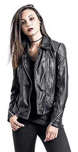 Gipsy Reese SF Girl-Lederjacke Schwarz M - 7