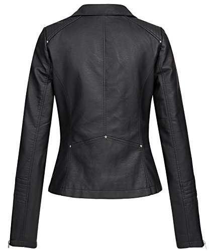 ONLY Damen Jacke Kunstleder 36Black - 2